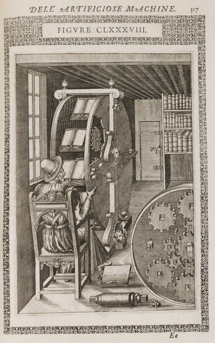 Le diverse et artificiose machine del capitano Agostino Ramelli... Ramelli, Agostino, 1531-ca. 1600. Arquivo digital da Beinecke Library, Elizabethan Club of Yale University, 1032311