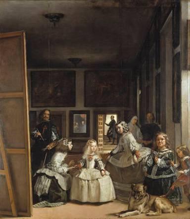 Las Meninas, o la familia de Felipe IV. Velázquez. 1656, óleo sobre lienzo, 381 x 276 cm. Museo del Prado, P1174.