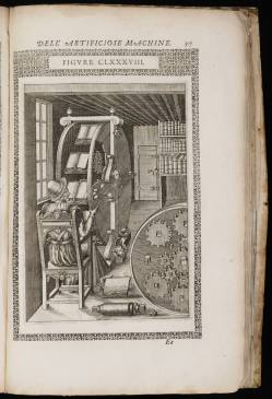 Le diverse et artificiose machine del capitano Agostino Ramelli… Ramelli, Agostino, 1531-ca. 1600. Arquivo digital da Beinecke Library, Elizabethan Club of Yale University, 1032311