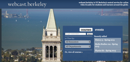 Portal de MOOCs, Berkeley http://webcast.berkeley.edu/
