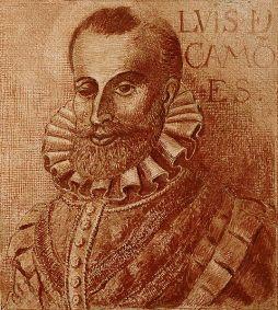 Luís Vaz de Camões (Lisboa[?], ca. 1524 — Lisboa, 10 de junho de 1580). Retrato por Fernão Gomes. Wikimedia Commons.