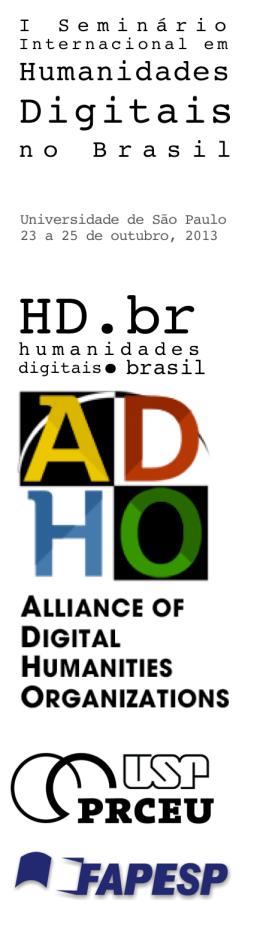 I Seminário Internacional em Humanidades Digitais no Brasil