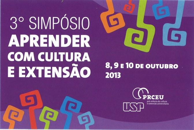 3º Simpósio do Programa Aprender com Cultura e Extensão